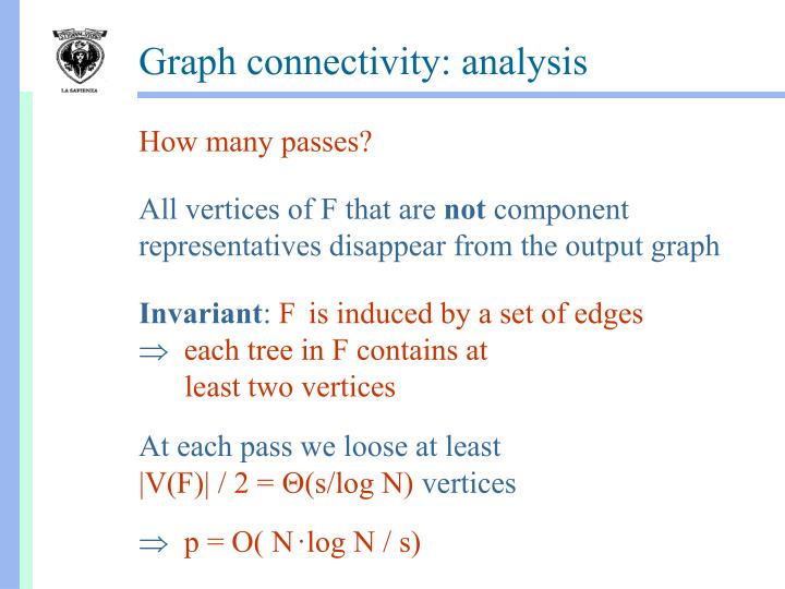 Graph connectivity: analysis