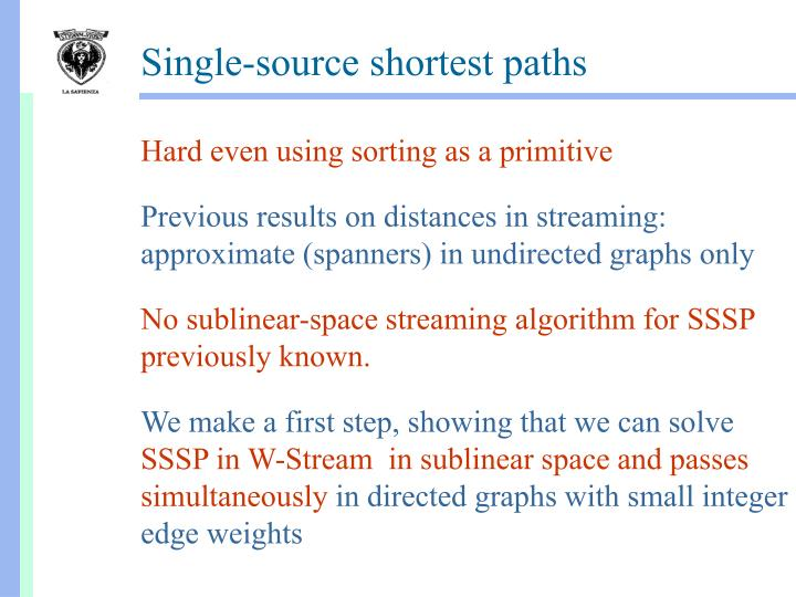 Single-source shortest paths
