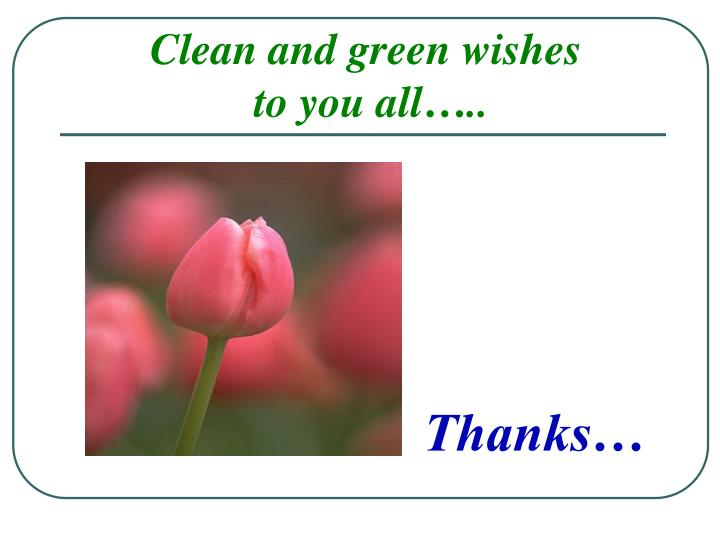 Clean and green wishes