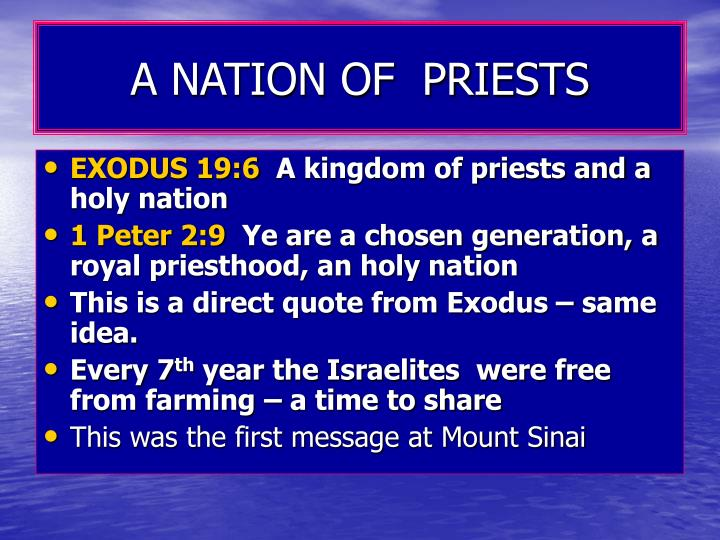 A NATION OF  PRIESTS