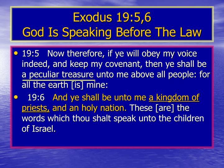 Exodus 19:5,6