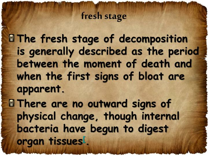 fresh stage