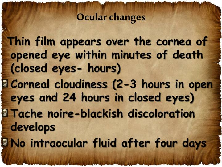 Ocular changes
