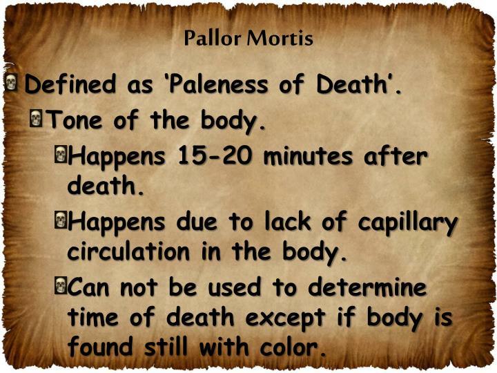 Pallor Mortis