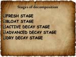 stages of decomposition