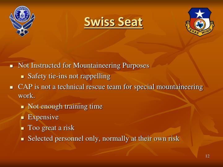 Swiss Seat