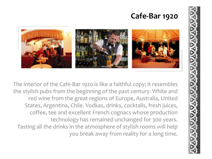 Cafe-Bar 1920