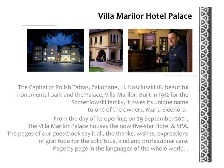 Villa Marilor Hotel Palace
