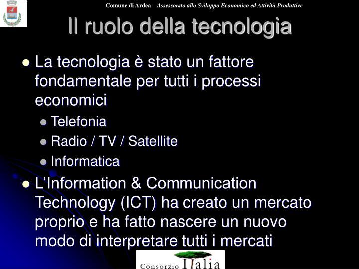 Il ruolo della tecnologia