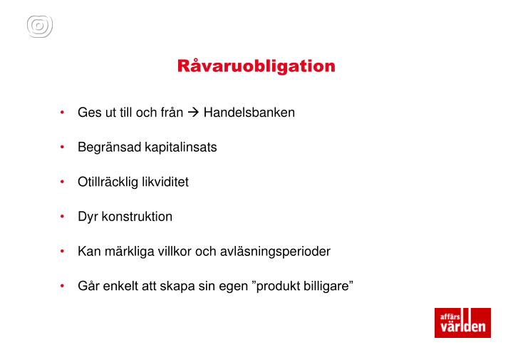 Råvaruobligation