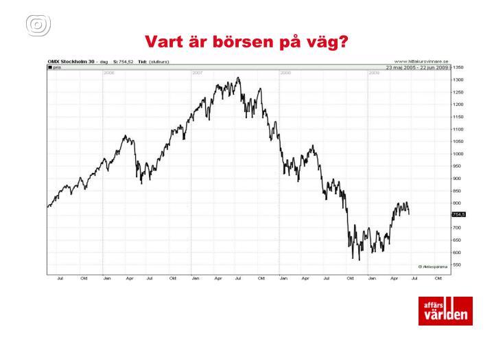 Vart är börsen på väg?