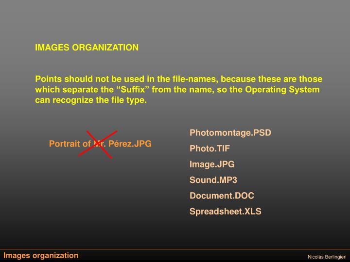 IMAGES ORGANIZATION