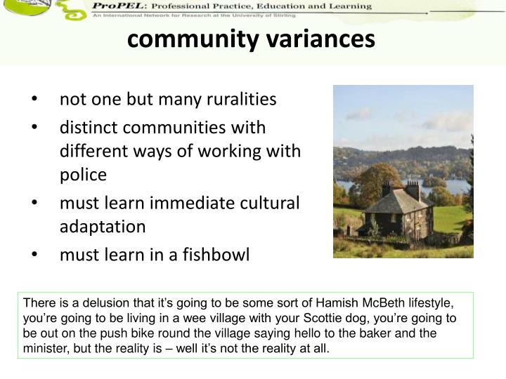 community variances