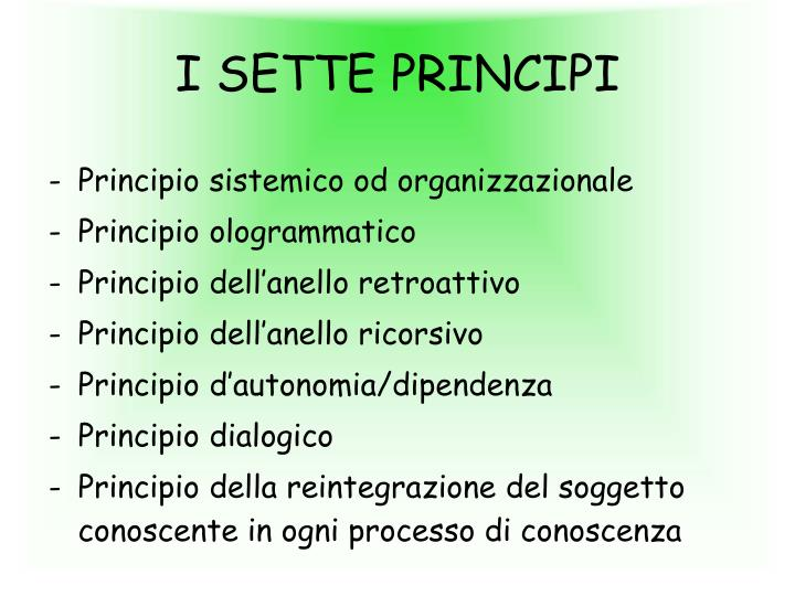 I SETTE PRINCIPI