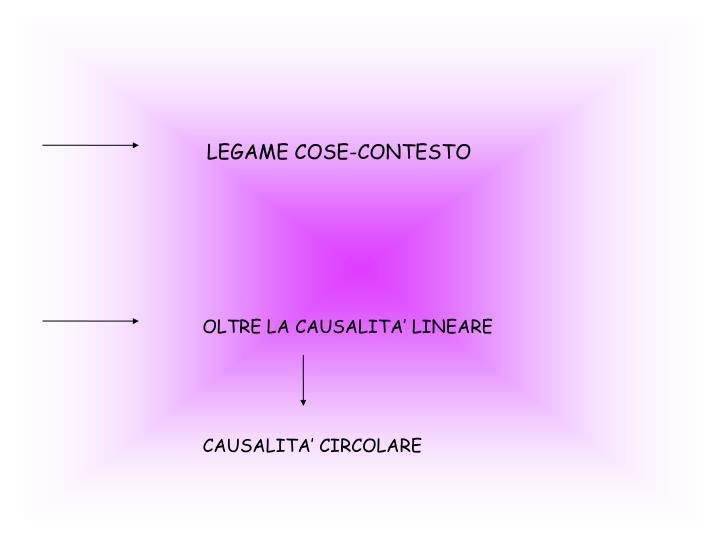 LEGAME COSE-CONTESTO