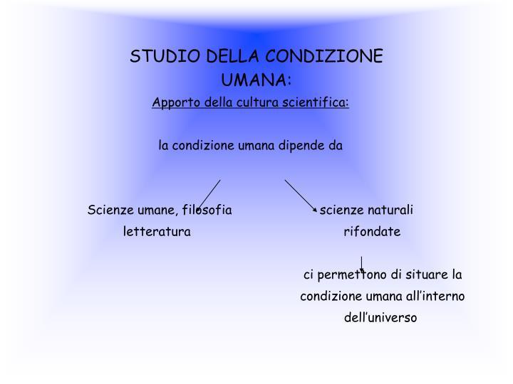STUDIO DELLA CONDIZIONE
