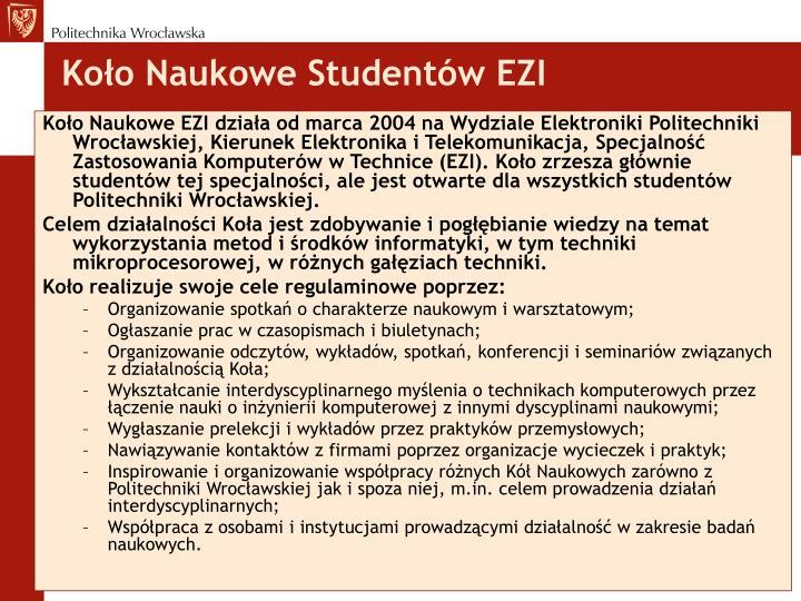 Koło Naukowe Studentów EZI
