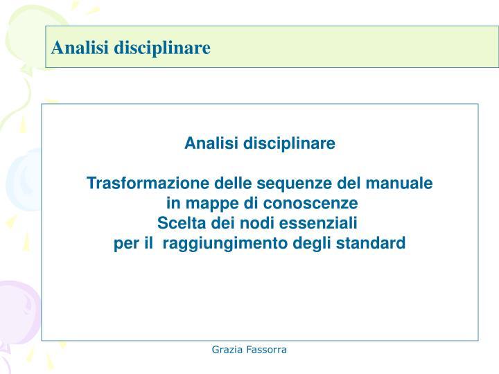 Analisi disciplinare