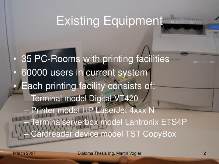 Existing Equipment