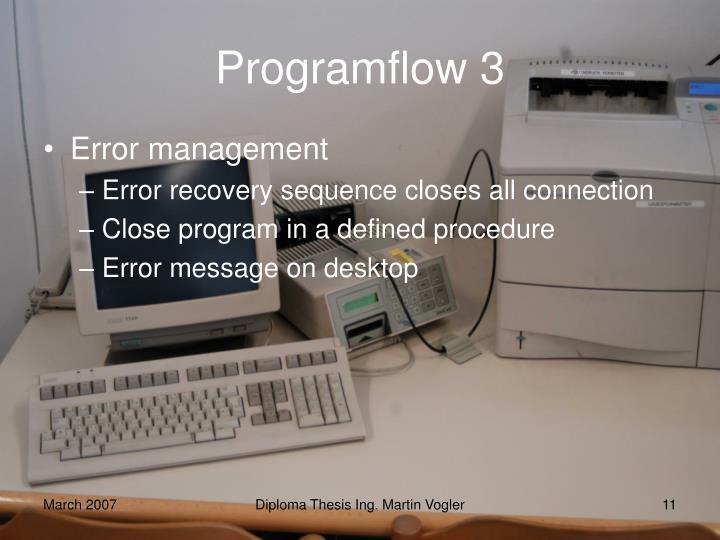 Programflow 3