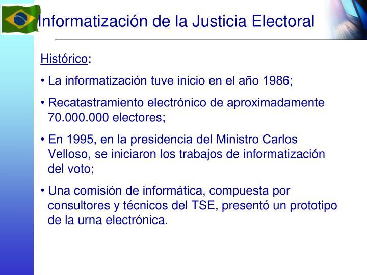 Informatización de la Justicia Electoral