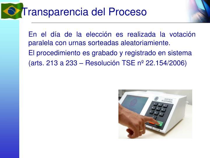 Transparencia del Proceso