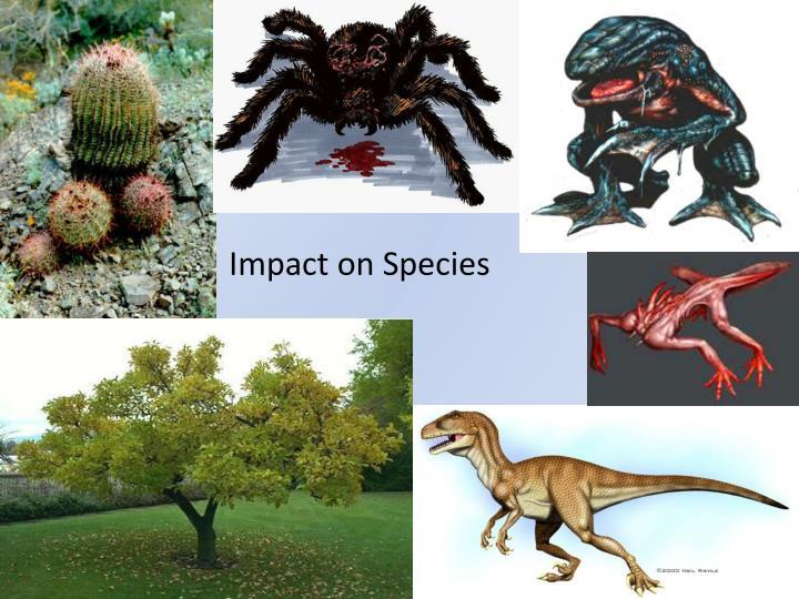 Impact on Species