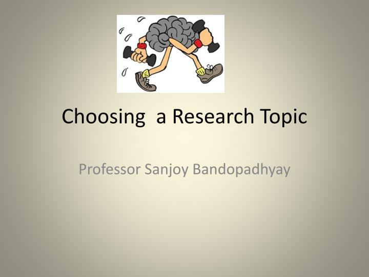 What Is A Good Topic For A Research Paper