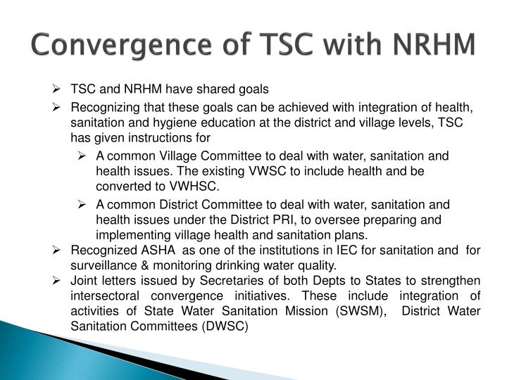 Convergence of TSC with NRHM