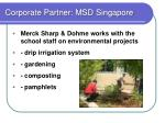 corporate partner msd singapore