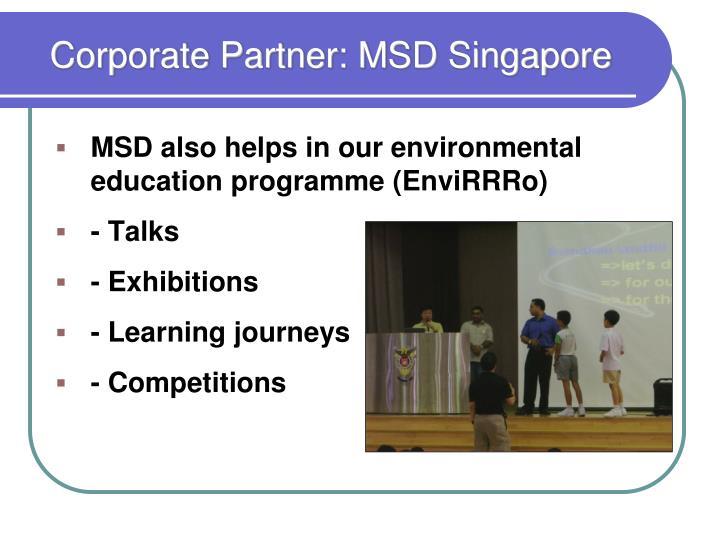 Corporate Partner: MSD Singapore