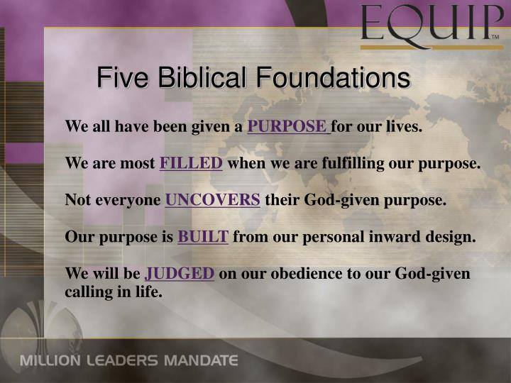 Five Biblical Foundations