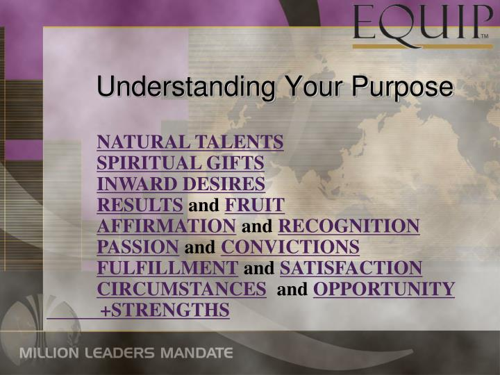 Understanding Your Purpose