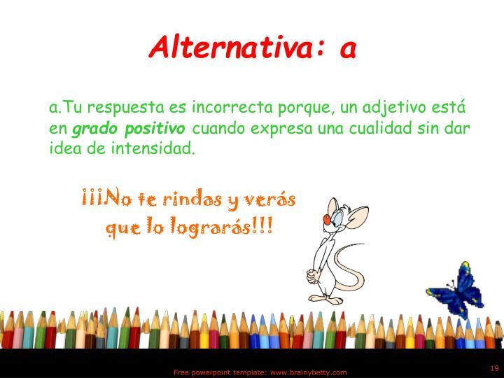 Alternativa: a