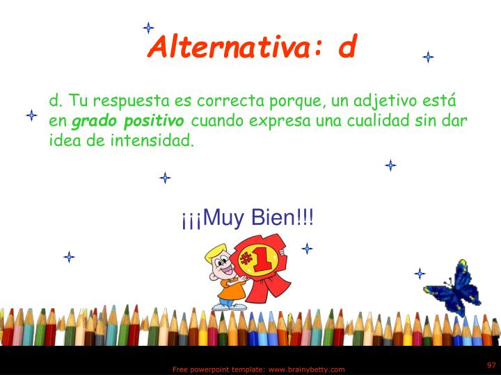 Alternativa: d