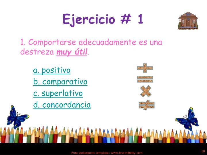 Ejercicio # 1