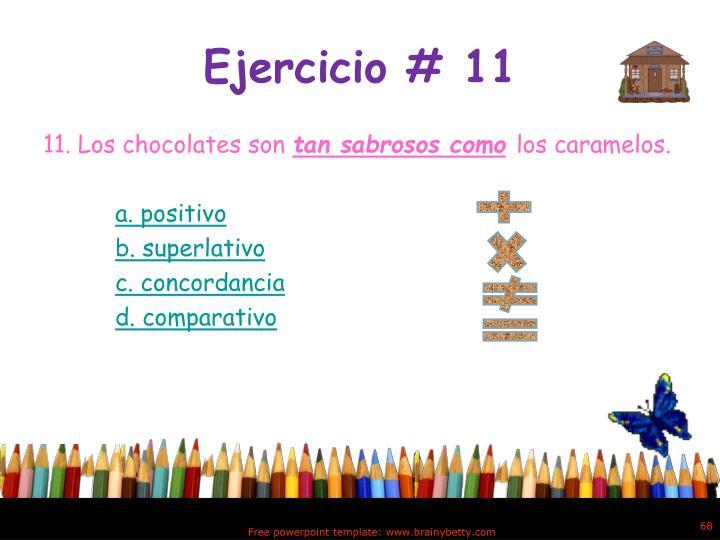 Ejercicio # 11