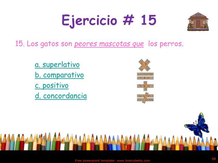 Ejercicio # 15