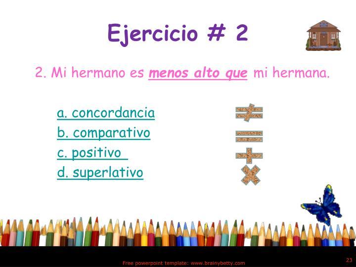 Ejercicio # 2
