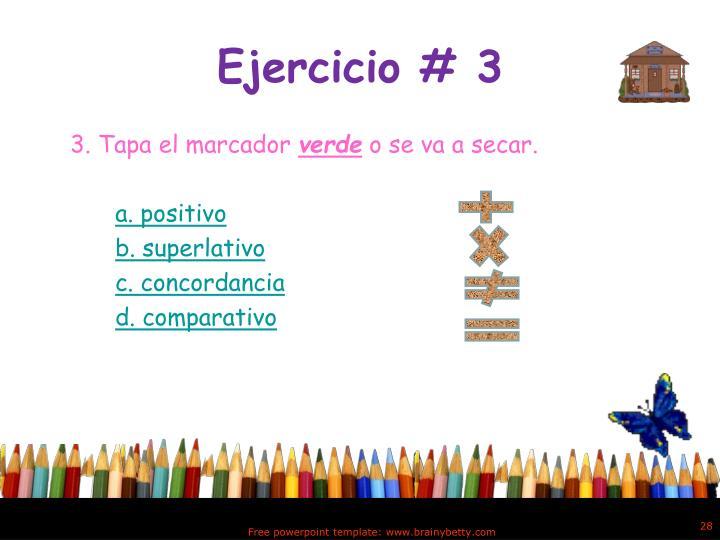 Ejercicio # 3
