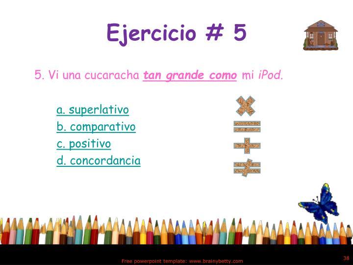 Ejercicio # 5