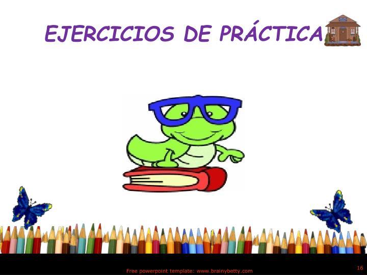 EJERCICIOS DE