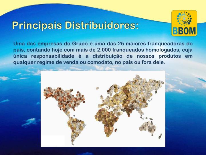 Principais Distribuidores:
