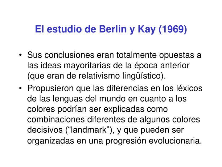 El estudio de Berlin y Kay (1969)