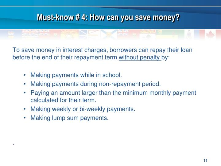 Must-know # 4: How can you save money?