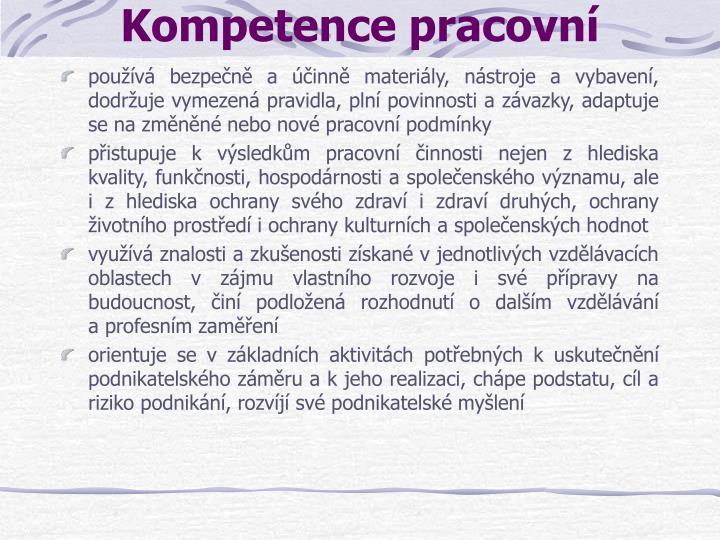 Kompetence pracovní