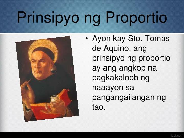 Prinsipyo ng Proportio