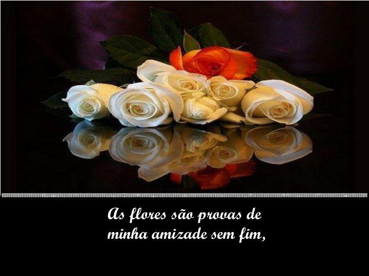 As flores são provas