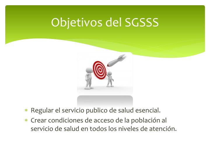Objetivos del SGSSS