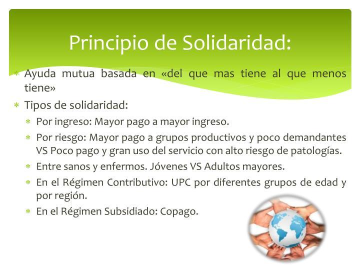Principio de Solidaridad:
